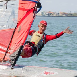 windsurfing for gold