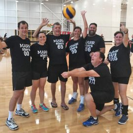 Marr family volleyball team